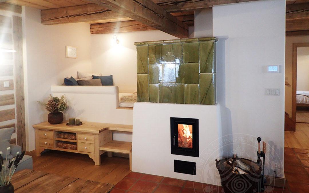 Moderní kamna s pecí